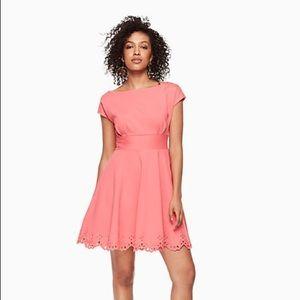 Kate Spade Cutwork Fiorella Dress in Coral, Size L